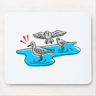 Birds On Water Mouse Pad