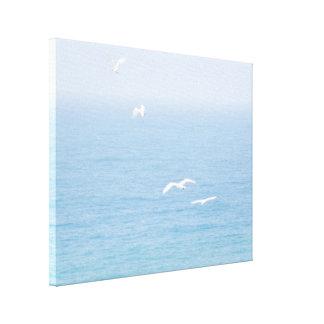 Birds over the Ocean Canvas Print