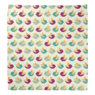 Birds pattern bandana