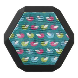 Birds pattern Blue Black Bluetooth Speaker