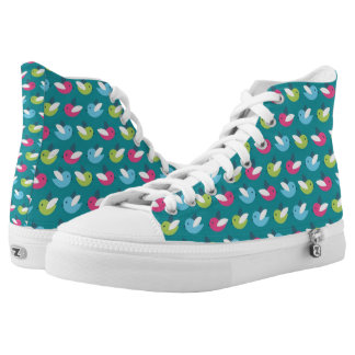 Birds pattern Blue High Tops