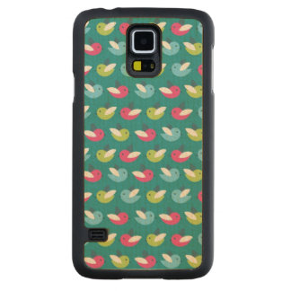 Birds pattern Blue Maple Galaxy S5 Case
