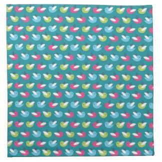 Birds pattern Blue Napkin