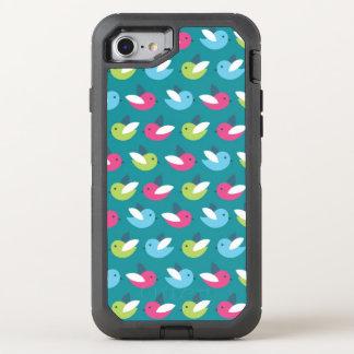 Birds pattern Blue OtterBox Defender iPhone 8/7 Case