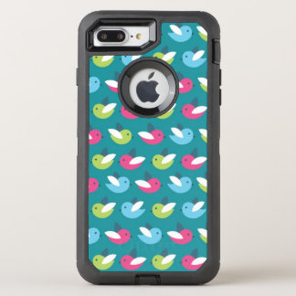 Birds pattern Blue OtterBox Defender iPhone 8 Plus/7 Plus Case