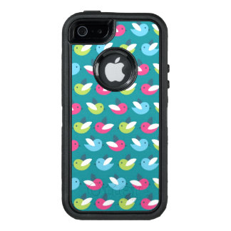 Birds pattern Blue OtterBox Defender iPhone Case