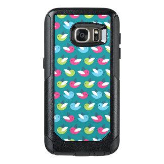 Birds pattern Blue OtterBox Samsung Galaxy S7 Case