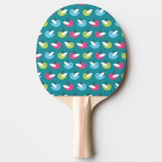 Birds pattern Blue Ping Pong Paddle