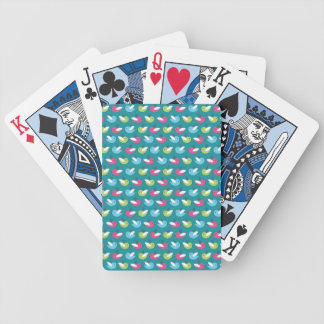 Birds pattern Blue Poker Deck