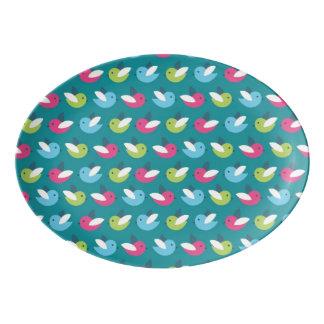 Birds pattern Blue Porcelain Serving Platter