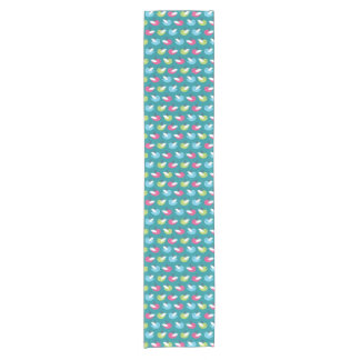 Birds pattern Blue Short Table Runner