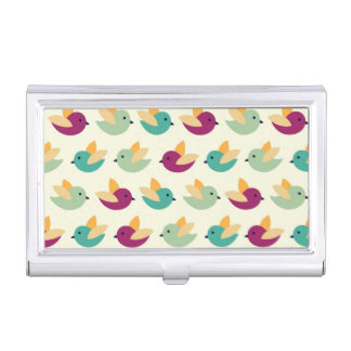 Birds pattern business card holder