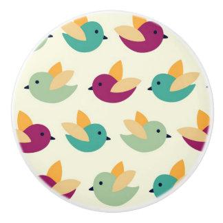 Birds pattern ceramic knob