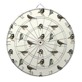 Birds pattern dart boards