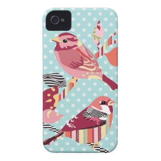 birds pattern iPhone 4 case