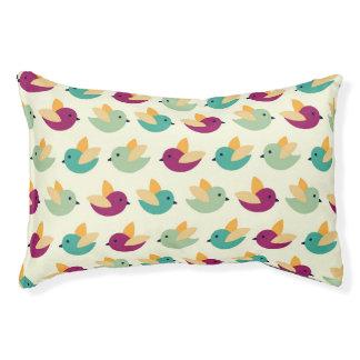 Birds pattern pet bed