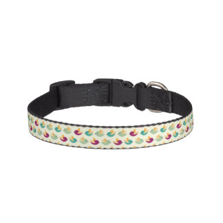 Birds pattern pet collar