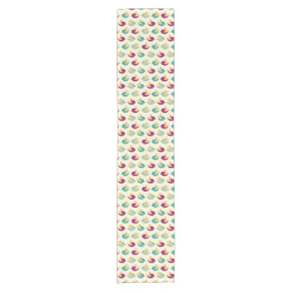 Birds pattern short table runner