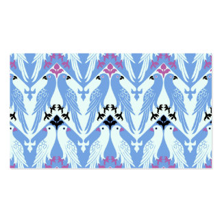 Birds Pattern - Vintage Victorian Pattern - Girly Double-Sided Standard Business Cards (Pack Of 100)