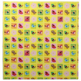 Birds patterns cloth napkins