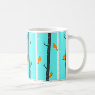Birds Perch White 11 oz Classic Coffee Mug