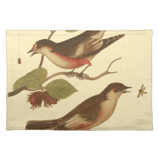 Birds Perched on Branches Eating Insects Placemat