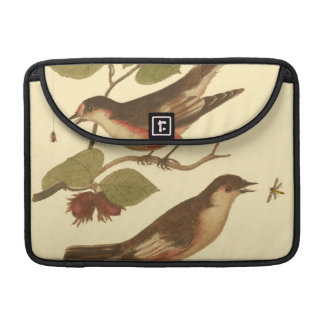 Birds Perched on Branches Eating Insects Sleeve For MacBook Pro