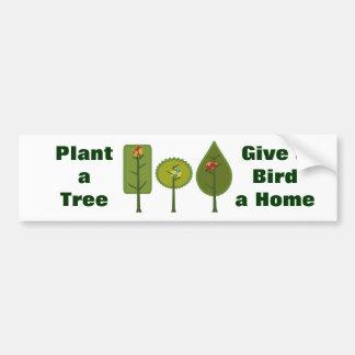 Birds Plant a Tree Bumper Sticker Car Bumper Sticker