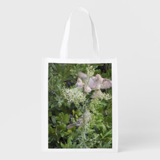Birds & Plants Reusable Grocery Bag