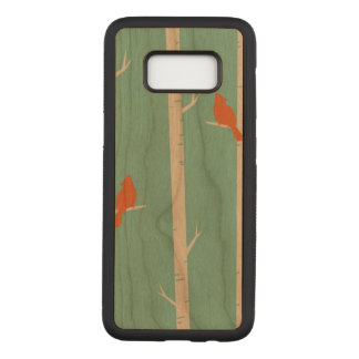 Birds Samsung Galaxy S8 Slim Cherry Wood Case