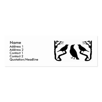 Birds Silhouette Profile Cards Business Card Templates