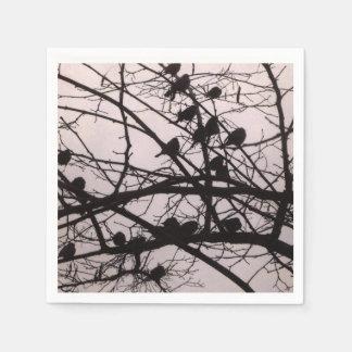 Birds Silhouettes Paper Napkins