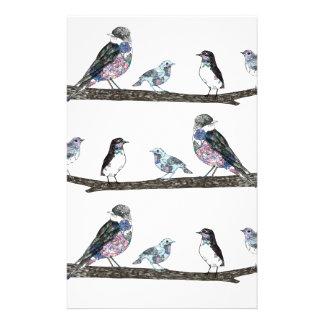 Birds. Stationery
