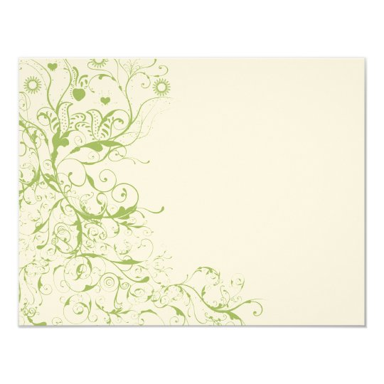 Birds & Swirls Wedding RSVP Response Card #17