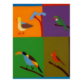 Birds that Visit the Valley of Bogota 2008 Postcard