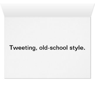 Birds Tweeting notecard
