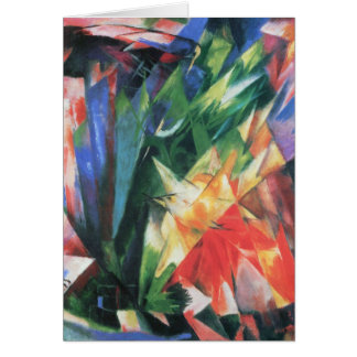 Birds (Vogel) by Franz Marc, Vintage Cubism Art Card