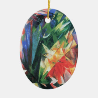 Birds (Vogel) by Franz Marc, Vintage Cubism Art Christmas Ornament