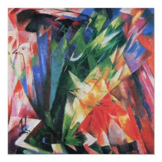 Birds (Vogel) by Franz Marc, Vintage Cubism Art