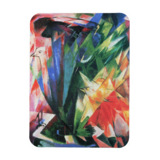 Birds (Vogel) by Franz Marc, Vintage Cubism Art Rectangular Photo Magnet