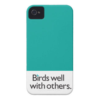 Birds Well with Others iPhone 4 Case