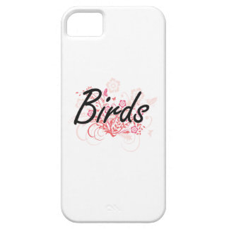 Birds with flowers background iPhone 5 cover