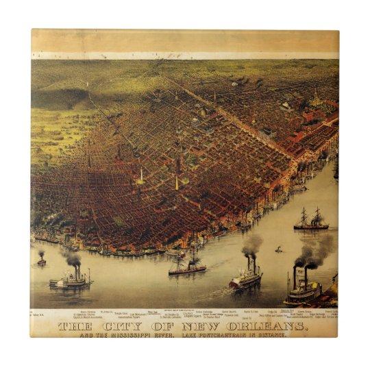 Birdseye map of New Orleans (1885) Tile