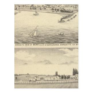 Birdseye view of Montello Postcard