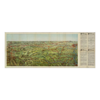 Birdseyes View Great Plains Poster