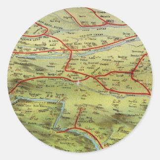 Birdseyes View Great Plains Round Sticker