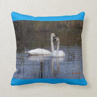 BirdsOfAFeather Swan Pillow