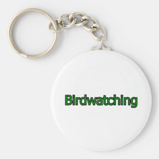 Birdwatching Text Logo Basic Round Button Key Ring