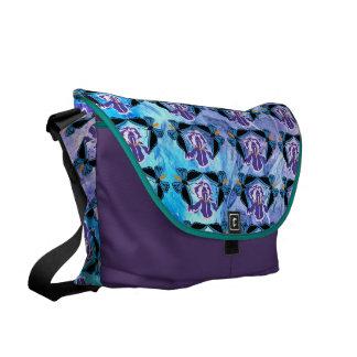 Birdwing Butterfly on Iris Pattern Commuter Bag