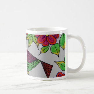 birdy basic white mug